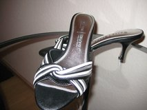 Black w/Silver & White Strapless Sandal in Ramstein, Germany