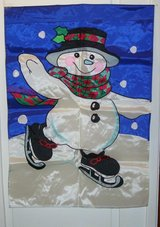 "NEW SNOWMAN BANNER 28""X 40""MADE OF NYLON in Alamogordo, New Mexico"