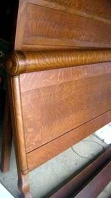 Antique Solid Tiger Oak Bed in Cherry Point, North Carolina