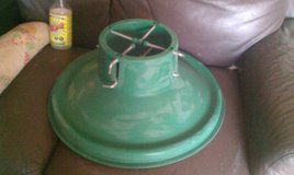 "HMS Christmas Tree Stand 23"" Holiday Winter Green Heavy Duty Plastic USED in Chicago, Illinois"