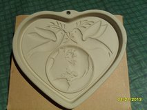 The Pampered Chef Peace on Earth Heart Cookie Mold NIB in Oswego, Illinois