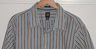 Gap Pocketed Striped Button Down Shirt Mens 2X 18-18-1/2 in Yorkville, Illinois