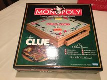 Wooden Monopoly & Clue Deluxe Edition + 6 More Games in Pasadena, Texas