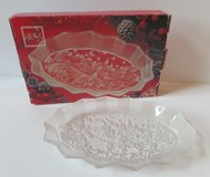 Mikasa Crystal Silent Night Frosted Platter Plate Dish in Kingwood, Texas