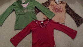 Little Girls size 5 Leopard Print  boho Peasant Top Heart Valentine's Day in Naperville, Illinois