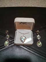 Genuine Mother of Pearl Heart Necklace and Earrings in Dover, Tennessee