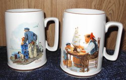 Norman Rockwell Mugs (2) in Alamogordo, New Mexico